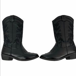 Kensie Shoes - Kensie girls black cowboy western boots 13